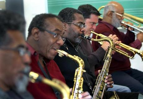 Members of The Makanda Project, from left to right, Kurtis Rivers, Arnie Cheatham, Lance Bryant, Jerry Sabatini, and Bill Lowe.